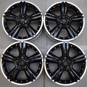 4 x Original Mini 5 Star, Double Spoke Alloy Wheels