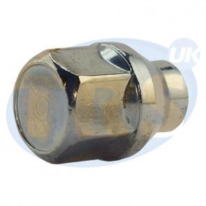 M12 x 1.5, 21mm Hex, 6mm Shank Wheel Nut