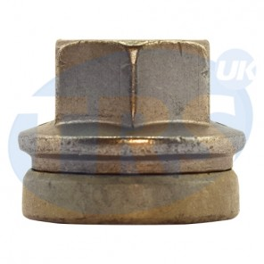 M14 x 2.0, 21mm Hex Flat Seated Transit Nut